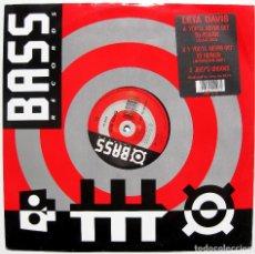 Discos de vinilo: LETA DAVIS - YOU'LL NEVER GET TO HEAVEN - MAXI BASS RECORDS 1990 UK BPY. Lote 288547128