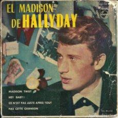 Discos de vinilo: EL MADISON DE HALLYDAY - MADISON TWIST / HEY BABY + 2 - VINILO ROSA. Lote 288547828