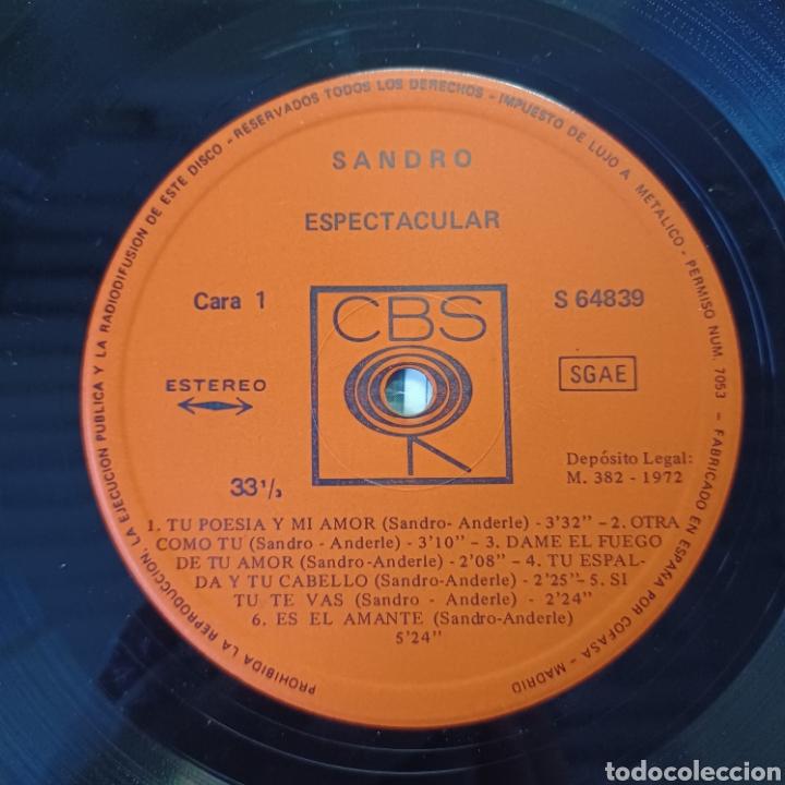 Discos de vinilo: SANDRO - ESPECTACULAR 1972 CBS - Foto 2 - 288547858
