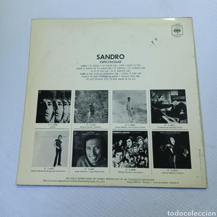 Discos de vinilo: SANDRO - ESPECTACULAR 1972 CBS - Foto 5 - 288547858