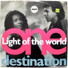 Discos de vinilo: LIGHT OF THE WORLD - ONE DESTINATION - MAXI COOLTEMPO 1990 UK BPY. Lote 288548023
