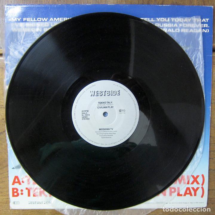 Discos de vinilo: MOSKWA TV - TEKNO TALK (BOMBING MIX) / TEKNO TALK (CIVILIAN PLAY) - 1985 - - Foto 4 - 288549663