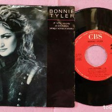 """Discos de vinilo: 7"""" BONNIE TYLER - IF YOU WERE A WOMAN (AND I WAS A MAN) - PORTUGAL (VG++/VG++). Lote 288550193"""