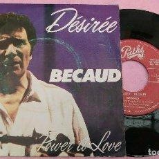 """Discos de vinilo: 7"""" GILBERT BECAUD - DESIREE - EMI 11C 008-72698 - PORTUGAL PRESS (VG+/VG++). Lote 288553198"""