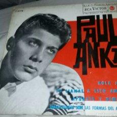 Discos de vinilo: PAUL ANKA, EP, HOLA, JIM (HELLO, JIM) + 3, AÑO 1963. Lote 288558013