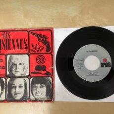 """Discos de vinilo: LES PARISIENNES - AU TEMPS DE CHICAGO / TOUJOURS DES PROMESSES - SINGLE 7"""" SPAIN 1973 PROMO. Lote 288558043"""