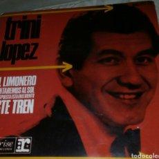 Discos de vinilo: SINGLE EP TRINI LÓPEZ EL LIMONERO EDICIÓN ESPAÑOLA AÑO 1965. Lote 288558578