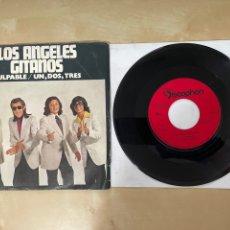 """Discos de vinilo: LOS ANGELES GITANOS - CULPABLE / UN DOS TRES - SINGLE 7"""" SPAIN 1972. Lote 288562363"""