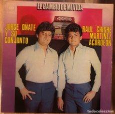 """Discos de vinilo: JORGE OÑATE Y SU CONJUNTO, RAUL """"CHICHE"""" MARTINEZ, ACORDEÓN - EL CAMBIO DE MI VIDA (1978, COLOMBIA). Lote 288563708"""