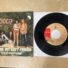 """Discos de vinilo: QUEEN - YOU'RE MY BEST FRIEND (ERES MI MEJOR AMIGO) / MAY - SINGLE 7"""" SPAIN 1976 PROMO. Lote 288565443"""