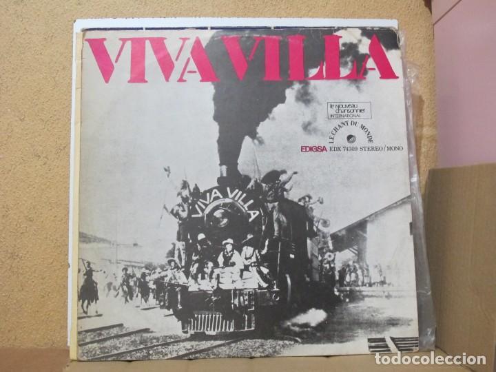 JORGE SALDANA / LOS MAYAS / L. NAVARRETE - VIVA VILLA - LE CHANT DU MONDE EDX 74309 - 1971 (Música - Discos - LP Vinilo - Grupos y Solistas de latinoamérica)