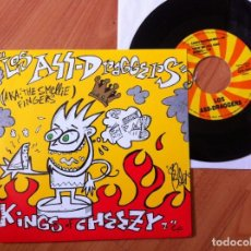 Discos de vinilo: LOS ASS-DRAGGERS KINGS OF CHEEZY 7´´ EP. USA 1996. Lote 288500693