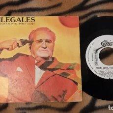 Discos de vinilo: SINGLE ILEGALES TIEMPOS NUEVOS TIEMPOS SALVAJES - EPIC PROMO - PUNK ROCK. Lote 288579358