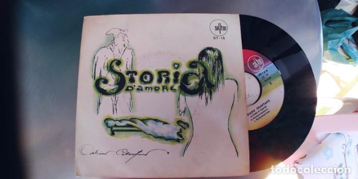 ADRIANO CELENTANO-SINGLE STORIA D'AMORE-ESPAÑOL 1969-BUEN ESTADO (Música - Discos - Singles Vinilo - Canción Francesa e Italiana)
