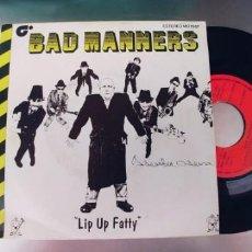 Discos de vinilo: BAD MANNERS-SINGLE LIP UP FATTY. Lote 288581638