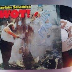 Discos de vinilo: CAPTAIN SENSIBLE-SINGLE WOT. Lote 288582993