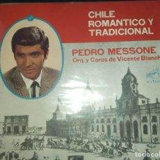 Discos de vinilo: PEDRO MESSONE – CHILE ROMÁNTICO Y TRADICIONAL LP 1969. Lote 288584393