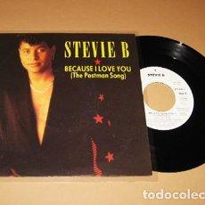 Discos de vinilo: STEVIE B. - BECAUSE I LOVE YOU (POR QUE TE AMO) - SINGLE - 1991. Lote 288585613