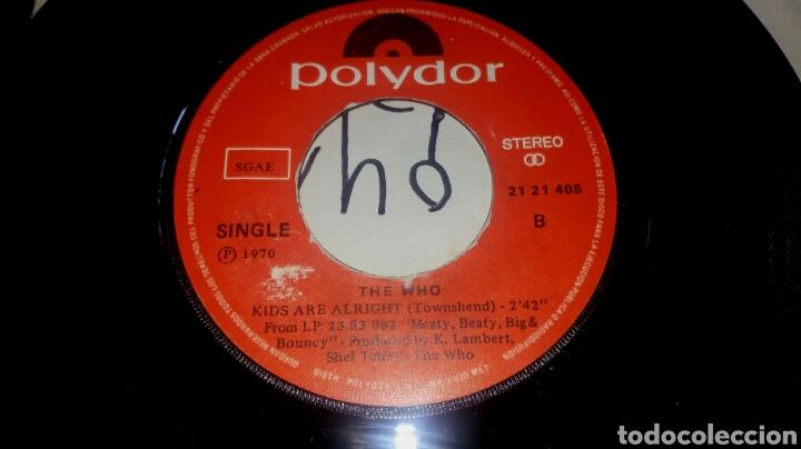 Discos de vinilo: THE WHO. MY GENERATION / KIDS ARE ALLRIGHT. SINGLE EDICIÓN ESPAÑOLA AÑO 1979. SÓLO DISCO SIN PORTADA - Foto 2 - 288599243