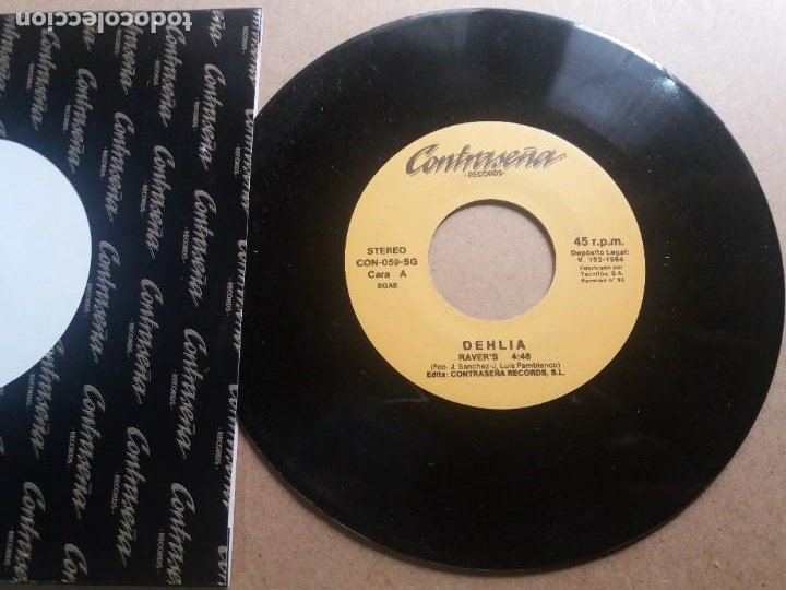 DEHLIA / RAVER'S / SINGLE 7 INCH (Música - Discos - Singles Vinilo - Pop - Rock Internacional de los 90 a la actualidad)