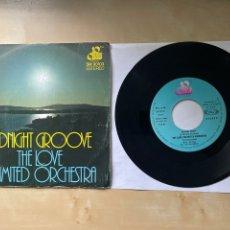"Discos de vinilo: THE LOVE UNLIMITED - MIDNIGHT GROOVE - SINGLE 7"" SPAIN 1976. Lote 288608918"