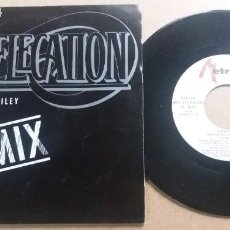 Discos de vinilo: DELEGATION FEATURING RICKY BAILEY / THE MIX / SINGLE 7 INCH. Lote 288612493