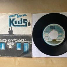 """Discos de vinilo: HEAVY METAL KIDS - SHE'S NO ANGEL - SINGLE 7"""" SPAIN 1976. Lote 288613183"""