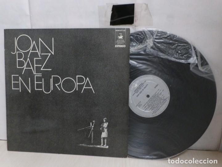 JOAN BAEZ. EN EUROPA --HISPAVOX--MADRID--1972-- (Música - Discos - LP Vinilo - Pop - Rock - Internacional de los 70)