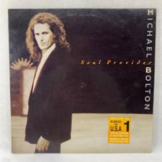 Discos de vinilo: LP - VINILO MICHAEL BOLTON - SOUL PROVIDER + ENCARTE - ESPAÑA - AÑO 1989. Lote 288614318