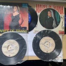 Discos de vinilo: LOTE 4 DISCOS DE VINILO PROMOCIONALES - MARIFE DE TRIANA - ALGUNOS NUNCA ANTES VISTOS JOYAS. Lote 288620753