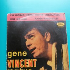 Disques de vinyle: GENE VINCENT - I'M GOING HOME-MISTER LONELINESS-HOT DOLLAR-ANNA-ANNABELLE. Lote 288625378