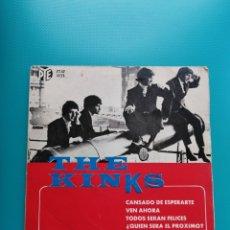 Disques de vinyle: THE KINKS - CANSADO DE ESPERARTE-VEN AHORA-TODOS SERÁN FELICES. Lote 288634878