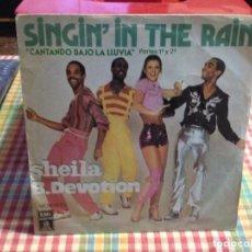 """Discos de vinilo: SHEILA B. DEVOTION - CANTANDO BAJO LA LLUVIA / SINGLE 7"""" 1978 SPAIN. NM / NM. Lote 288636313"""