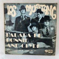 Discos de vinilo: SINGLE LOS MUSTANG - BALADA DE BONNIE AND CLYDE - ESPAÑA - AÑO 1968. Lote 288637473
