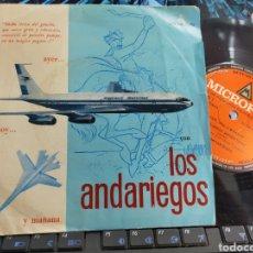 Discos de vinilo: LOS ANDARIEGOS SINGLE PROMOCIONAL AYER,HOY Y MAÑANA ARGENTINA. Lote 288641793