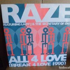Discos de vinilo: RAZE --- ALL 4 LOVE - MAXI SINGLE. Lote 288644808