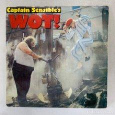 Discos de vinilo: SINGLE CAPTAIN SENSIBLE'S - WOT ! - ESPAÑA - AÑO 1982. Lote 288648193