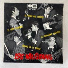 Discos de vinilo: EP LOS MUSTANG - SUBMARINO AMARILLO - ESPAÑA - AÑO 1966. Lote 288650353