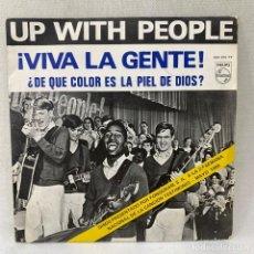 Disques de vinyle: SINGLE UP WITH THE PEOPLE - VIVA LA GENTE - ESPAÑA - AÑO 1969. Lote 288650508