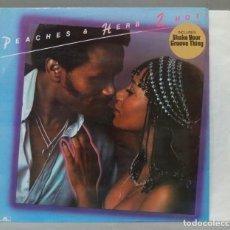 Discos de vinilo: LP. PEACHES & HERB. 2 HOT. Lote 288657858