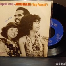 Discos de vinilo: THE UNDISPUTED TRUTH AYUDATE SINGLE SPAIN 1974 PDELUXE. Lote 288663483