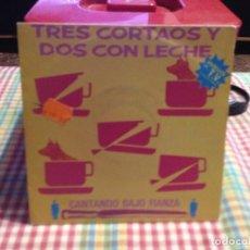 """Discos de vinilo: TRES CORTAOS Y DOS CON LECHE - CANTANDO BAJO FIANZA / SINGLE 7"""" 1991 SPAIN. NM / NM. Lote 288665233"""