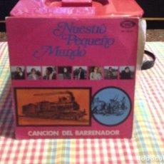 """Discos de vinilo: NUESTRO PEQUEÑO MUNDO - CANCION DEL BARRENADOR / SINGLE 7"""" 1970 (CON INSERT) SPAIN. NM / NM. Lote 288666338"""