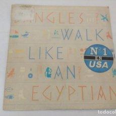 Discos de vinilo: BANGLES/WALK LIKE AN EGYPTIAN/SINGLE PROMOCIONAL.. Lote 288678838