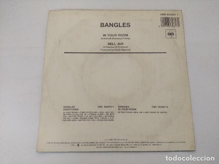 Discos de vinilo: BANGLES/IN YOUR ROOM/SINGLE PROMOCIONAL. - Foto 3 - 288679063
