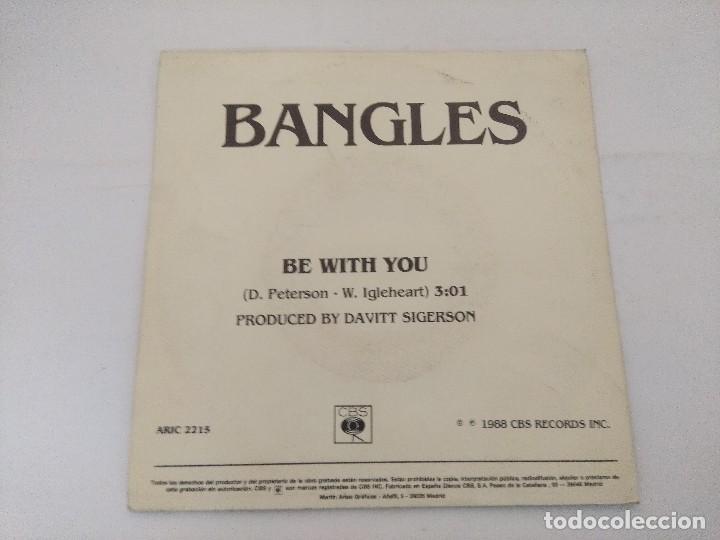 Discos de vinilo: BANGLES/BE WITH YOU/SINGLE PROMOCIONAL. - Foto 3 - 288679333