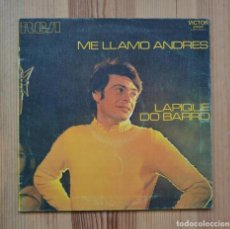 Discos de vinilo: ANDRÉS DO BARRO ME LLAMO ANDRÉS LAPIQUE DO BARRO 1970 VINILO LP RCA VICTOR MUSICA GALEGA. Lote 288681373