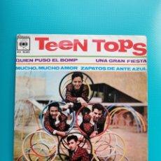 Discos de vinilo: TEEN TOPS - QUIEN PUSO EL BOMP-UNA GRAN FIESTA-MUCHO, MUCHO AMOR-ZAPATOS DE ANTE AZUL. Lote 288682993