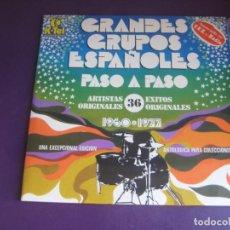 Discos de vinilo: GRANDES GRUPOS ESPAÑOLES1960-1977 - DOBLE LP K-TEL 1978 - CANARIOS - BRAVOS - MAQUINA - SALVAJES ETC. Lote 288683203