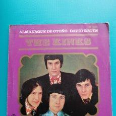 Disques de vinyle: THE KINKS - ALMANAQUE DE OTOÑO-DAVID WATTS. Lote 288685458